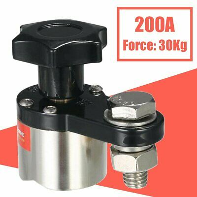 200a Magnetic Welding Ground Clamp Holder Adjustable Tool Accessories Force 30kg