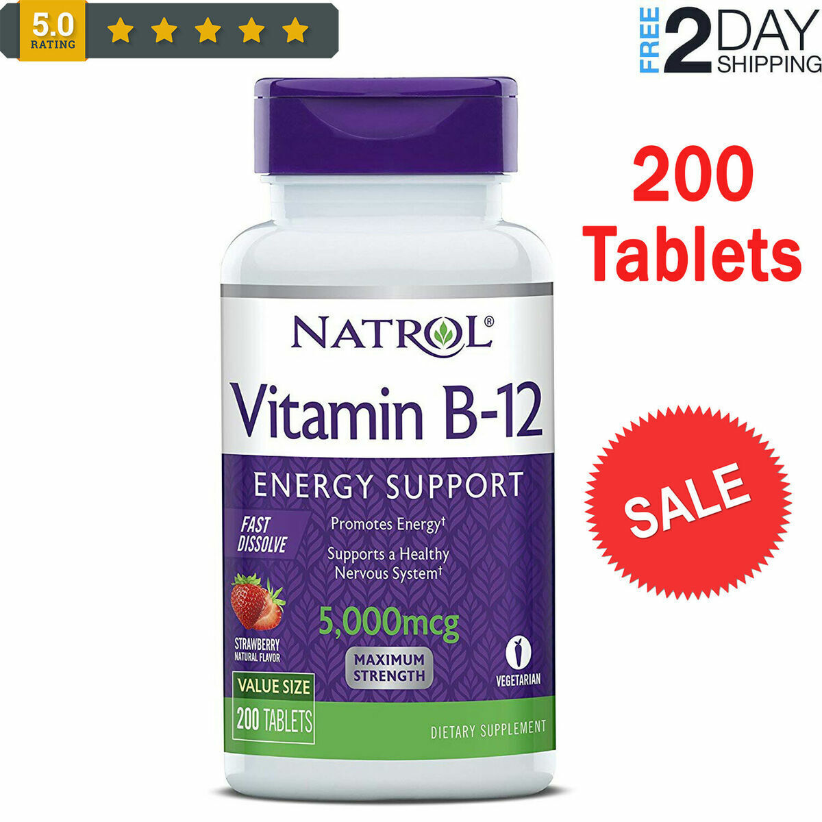 #1 - Vitamina B-12 - vitamina b12 sublingual - mejor vitamina b12 veganos