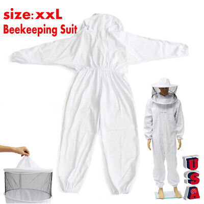 Xxl Beekeeper Protect Bee Jacket Keeping Suit Safty Veil Hat Body Set Us Power