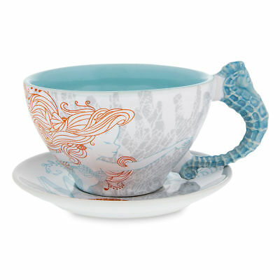Disney Parks Exclusive Ariel The Little Mermaid Cup and Saucer Set Coffee Tea  (Ariel Tea Set)