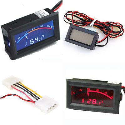 Dual Display Digital Thermometer Temperature Meter Gauge Cf 0c - 90c Pc Mod