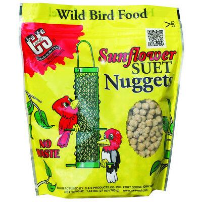C&S 06110 Sunflower Suet Nuggets Wild Bird Food, 27 Oz