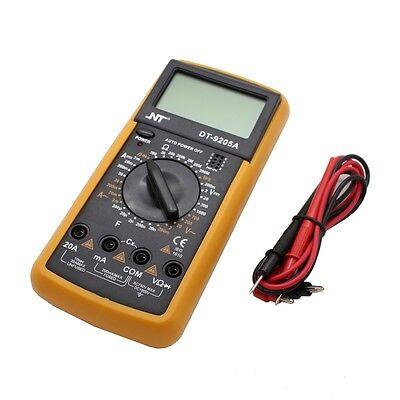 New Digital Lcd Multimeter Nt-9205 Voltmeter Ammeter Ohmmeter Ohm Volt Tester