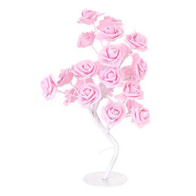 Rosen Lampe (LED Rose Lichterbaum Nachtlicht Tischlampe Rosenbaum Geschenk  )