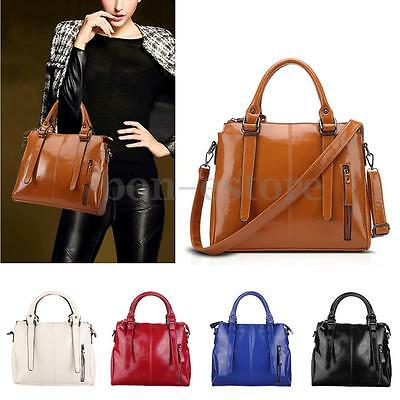 Bag - Women Leather Handbag Shoulder Bag Tote Messenger Crossbody Ladies Satchel Purse