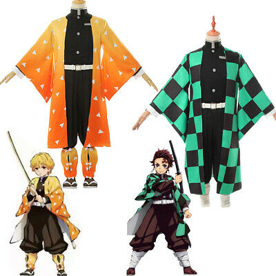 Demon Slayer Cosplay Costume Tanjirou Agatsuma Zenitsu Tomioka Kimono Uniform - Demon Slayer Costume