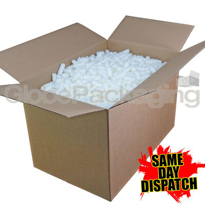 2.5 Cubic Foot Box of ECOFLO Biodegradable Loose Void Fill Packing Peanuts