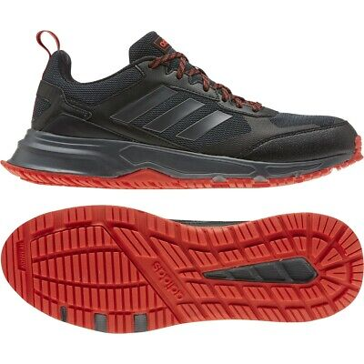 Mens Adidas Rockadia Trail 3 Wide Black Red Athletic Running Shoe EG3485 8W-10W