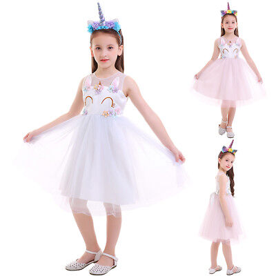Unicorn Little Pony Tulle Gown Flower Girl Dress for Kid Wedding Birthday Party - Little Girls Dresses For Weddings