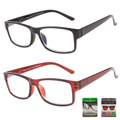 Multi Focus Progressive Reading Glasses 3 Powers In 1 Reader Rectangular Bifocal