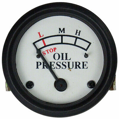 Oil Gauge A B D G H Dash Mount White Face John Deere Jd 419