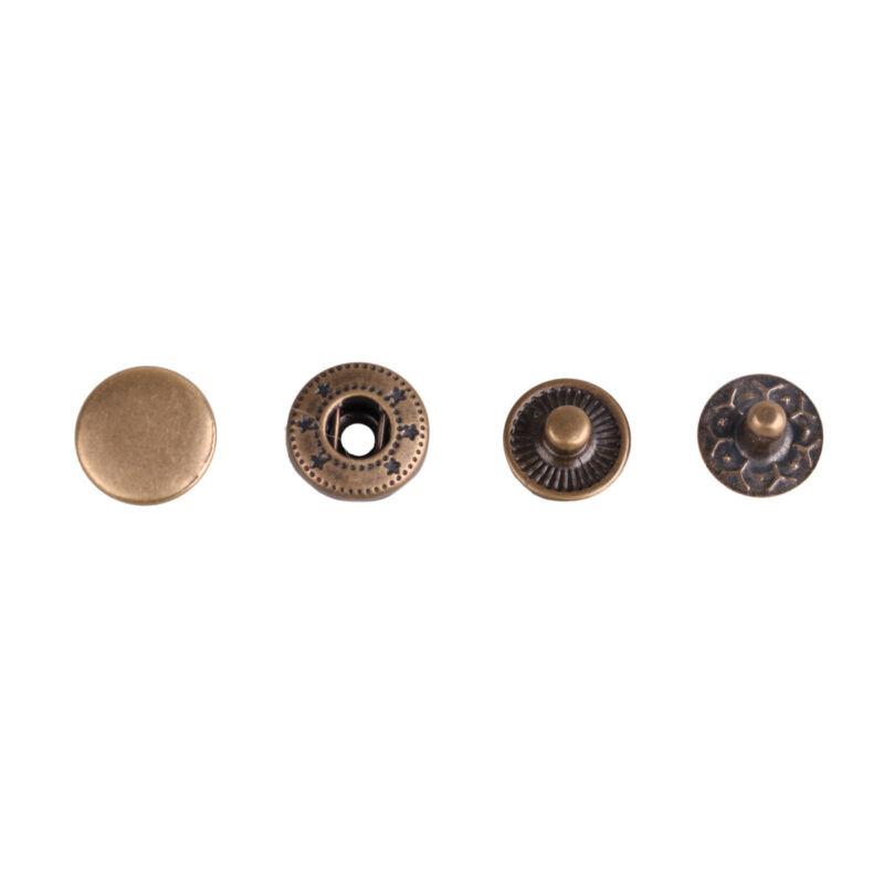 200 Metal Rivet Snap Fastener Press Stud Cap Sewing Craft Clothes Buttons 10mm