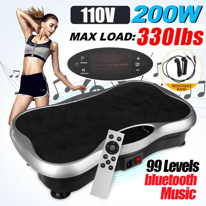 330lbs 99-Level Body Vibration Machine Plate Platform Shaker Massager Fitness US