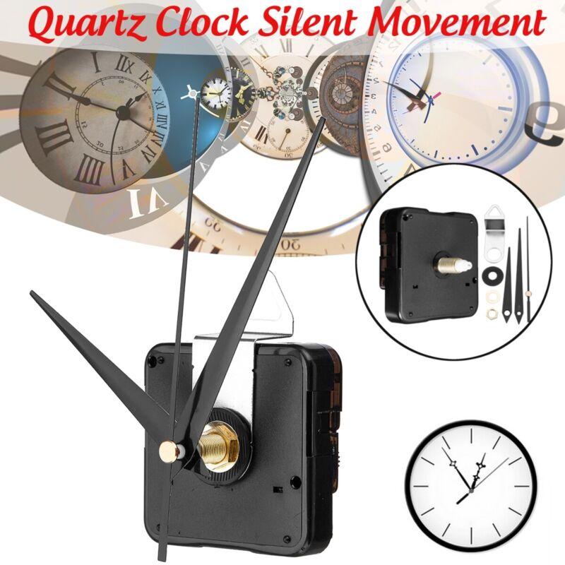 Black Hands Silent Wall Quartz Clock Movement Mechanism Repair Tool Kit Home DIY