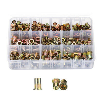 300pcs Zinc Steel Rivet Nut Kit Rivnut Nutsert Assort 150pcs Metric 150pcs Sae