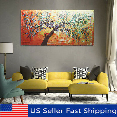 Modern HD Abstract Oil Painting Print Canvas Picture Tree Wall Art Decor Unframe