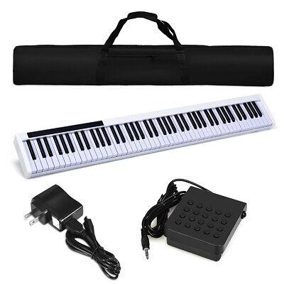 88 Key Portable Digital Piano Kids Play Gift MIDI Keyboard Weighted Key w/Pedal