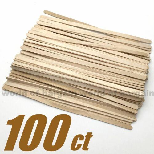 100 ct Coffee Stirrer Wood Sticks Disposable