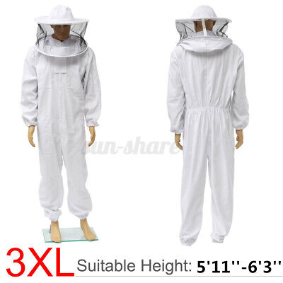 3xl Beekeeper Protect Bee Keeping Suit Jacket Veil Hat Full Body Equipment Hood