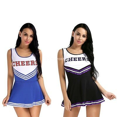 School Girl Musical Cheerleader Uniform Costume Cosplay Women Outfits Halloween](Cheerleader Costume Women)