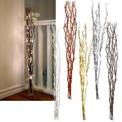 LED Lichterzweige 60 oder 115 cm Weiden-Zweige beleuchtet Trafo Deko Zweige