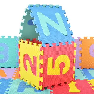 36 PCS Soft EVA Foam Baby Kids Play Mats Children Alphabet Number Puzzle Jigsaw