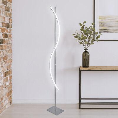 2 Stück Stehlampe (2 Stück  LED Stehleuchte Stehlampe Design Deckenfluter S-Form Edelstahl ST28 WOW)