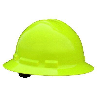 Radians Full Brim Hard Hat With 4 Point Ratchet Suspension Hi-vis Green