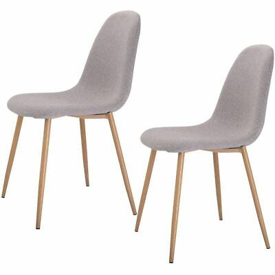 Set of 2 Modern Dining Accent Side Chairs Wood Legs Home Furniture