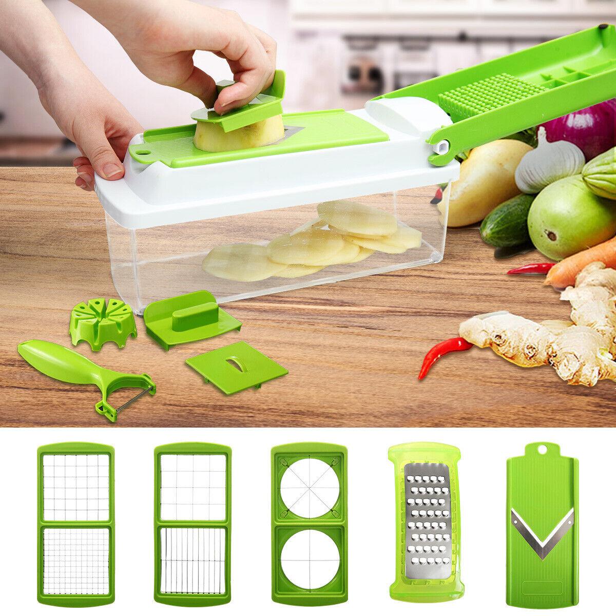 12 PC Kitchen Super Slicer Plus Vegetable Fruit Peeler Dicer Cutter Chopper