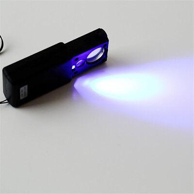 30 Fach Lupe Mikroskop Vergrösserung Juwelier Uhrmacher Glas mit LED Licht Lampe