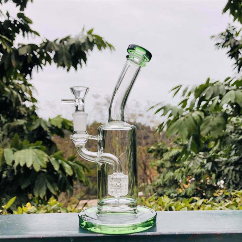 Hookah Water Smoking Pipe Glass Bong Tobacco Beaker Bubbler W/ ICE Catcher