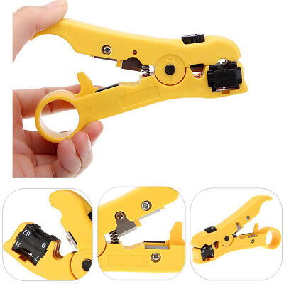 Coax Coaxial Cable Wire Cut Cutter Stripping Tool Cat 5 Rg 596 Rg 711 Stripper