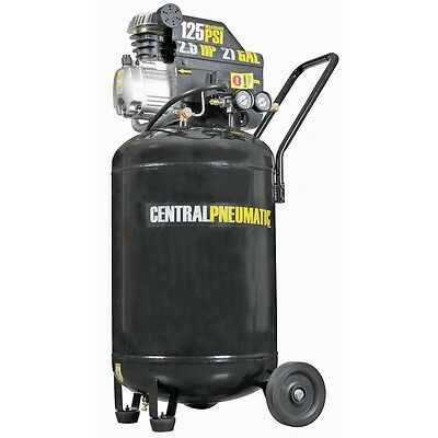 21 Gallon 125 Psi Cast Iron Vertical Air Compressor 2.5 Hp M Portable Free Fedex