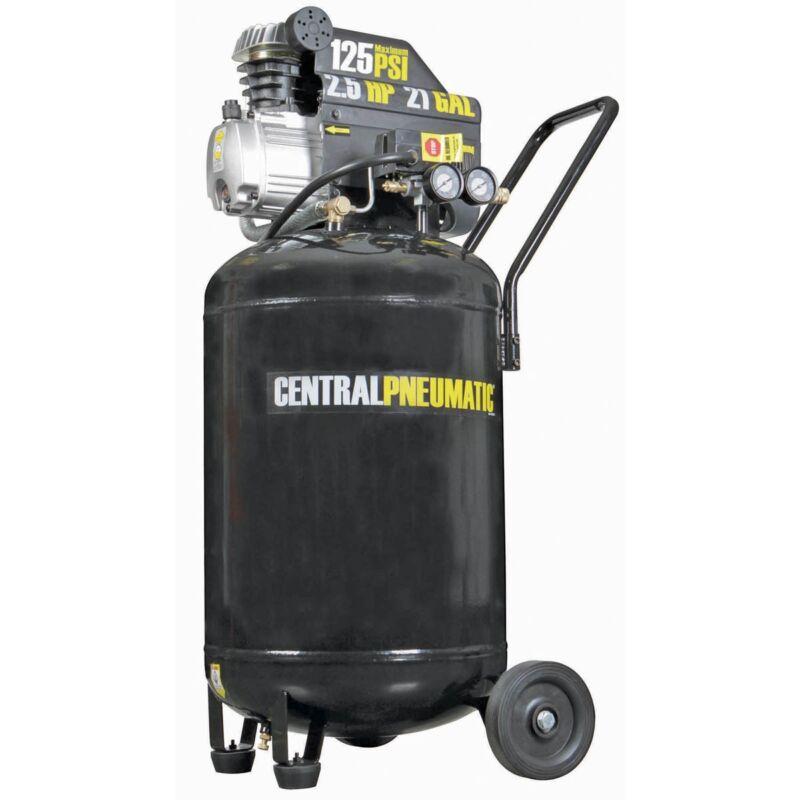21 Gallon 125 PSI Cast Iron Vertical Air Compressor 2.5 HP M Portable FREE FEDEX