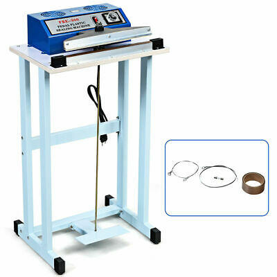 12 Foot Pedal Impulse Sealer Heat Seal Plastic Bag Sealing Machine W Cutter
