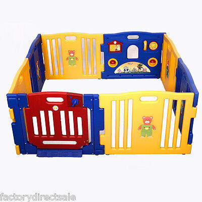 Купить Goplus - New Baby Playpen Kids 8 Panel Safety Play Center Yard Home Indoor Outdoor Pen