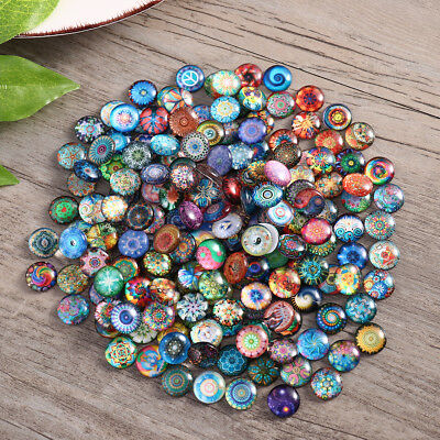 Rosenice Mosaic Tiles 200pcs 12mm Mixed Round for Crafts Glass Supplies (Round Mosaic)