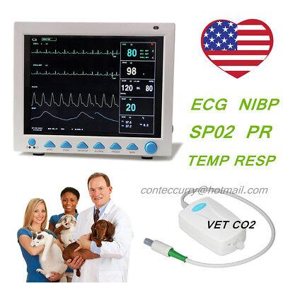 Contec Etco2 Veterinary Monitor For Vet Animal Ecg Ekg Icu Cms8000 6 Parameters