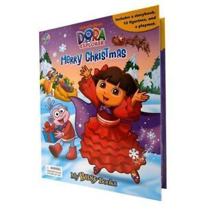 Dora the Explorer Christmas My Busy Book & Map Plus 12 Figures