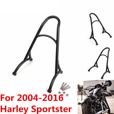 Burly Black Sissy Bar Backrest For Harley Sportster XL Iron 883 1200 2004-2016