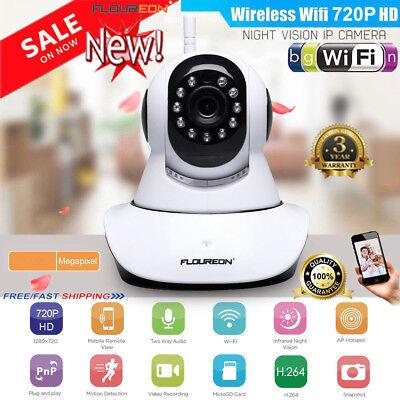 720P Wireless Wifi IP Camera CCTV Security Webcam Baby/Pet Monitor CAM Pan Tilt