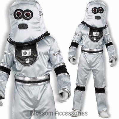 Silver Space Suit Costume (CL827 Robot Sci-Fi Silver Space Futuristic Fancy Dress Mens Suit Costume)
