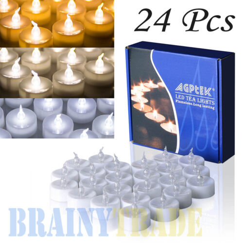 24 pcs flameless votive candles battery operated