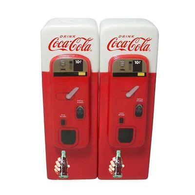 Retro Vintage Coca-Cola Salz+Pfefferstreuer: Automat Flasche Fishtail Design USA ()