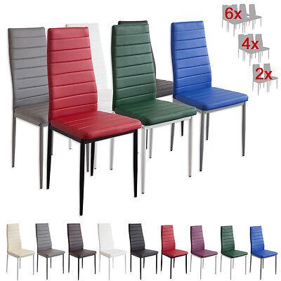 Esszimmerstühle MILANO - Farbe und Stückzahl wählbar - Stuhl Stühle SET (Esszimmer Stuhl, Moderne)