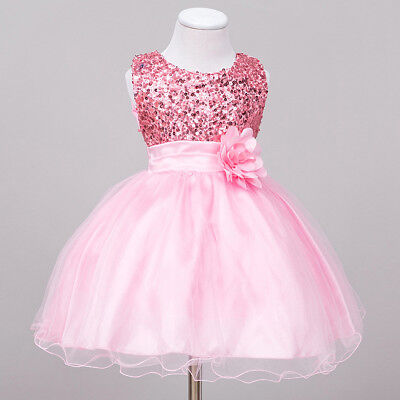 1-3T Toddler Baby Girls Flower Sequined Tutu Dress For Birthday Wedding - 3t Birthday Dress