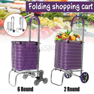 Folding Shopping Cart Grocery Trolley Laundry Stair Climbing Handcart