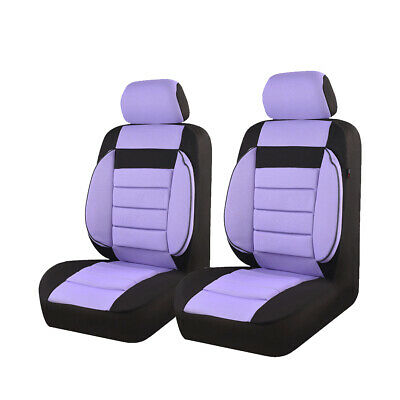 CARPASS Washable Cotton Mesh Fabric Purple Color Car Seat Cover for 2 Front Seat
