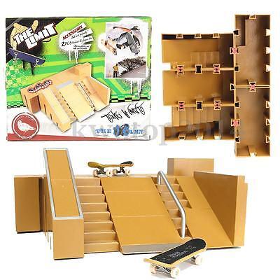 US Skate Parks Ramp Parts Kit for Tech Deck Finger Board Ultimate Training Toys